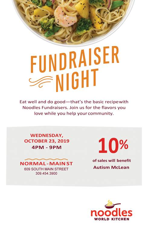 Noodles Fundraiser for Autism McLean – Wed, October 23